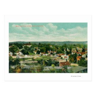 Vista aérea del CityPaso Robles, CA Postal