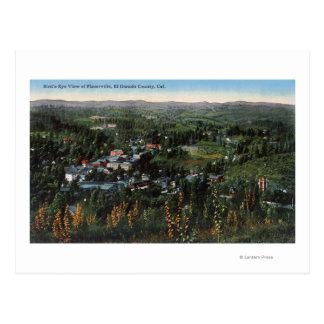 Vista aérea del CityPlacerville, CA Postal