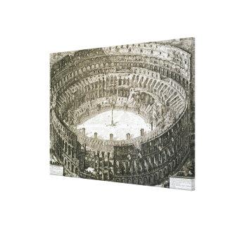 Vista aérea del Colosseum en Roma de las 'opinióne Impresiones En Lona
