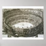 Vista aérea del Colosseum en Roma de las 'opinióne Póster