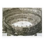Vista aérea del Colosseum en Roma de las 'opinióne Tarjeta Postal