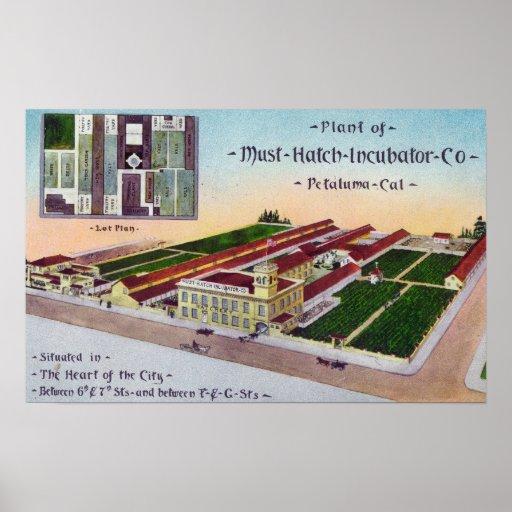 Vista aérea del edificio del Co de la incubadora d Póster