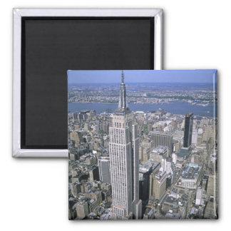 Vista aérea del Empire State Building y Imán De Frigorifico