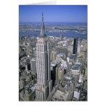 Vista aérea del Empire State Building y Tarjeton