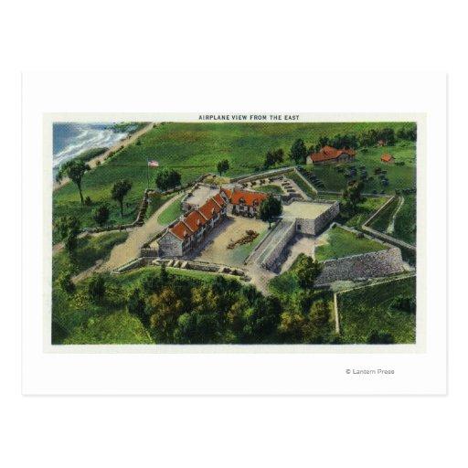 Vista aérea del este de los argumentos del fuerte tarjeta postal