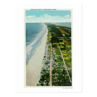 Vista aérea del frente al mar postal