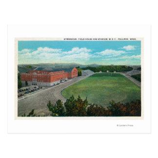 Vista aérea del gimnasio de la universidad de tarjetas postales