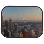 Vista aérea del horizonte 2 de la ciudad de alfombrilla de auto