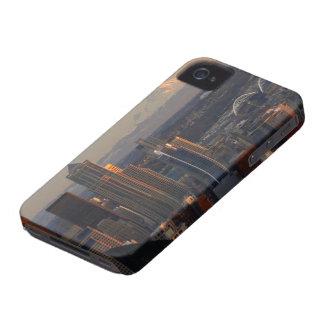 Vista aérea del horizonte 2 de la ciudad de Seattl iPhone 4 Case-Mate Protector