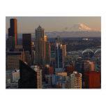 Vista aérea del horizonte 2 de la ciudad de Seattl Postal