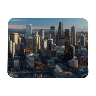 Vista aérea del horizonte de la ciudad de Seattle Iman Rectangular