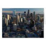 Vista aérea del horizonte de la ciudad de Seattle Felicitaciones