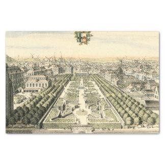 Vista aérea del jardín formal de Eric Dahlbergh Papel De Seda