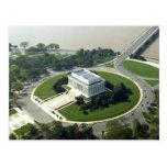 Vista aérea del Lincoln memorial Tarjeta Postal