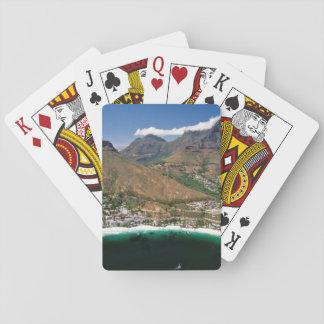Vista aérea del litoral atlántico que muestra baraja de póquer