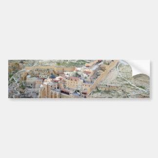 Vista aérea del monasterio de marcha Saba Pegatina De Parachoque