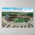 Vista aérea del nuevo Milwaukee County Stadium Póster