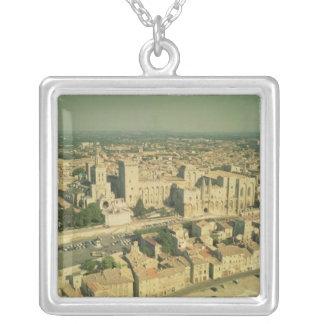 Vista aérea del palacio pendientes personalizados