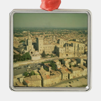Vista aérea del palacio ornamento de navidad