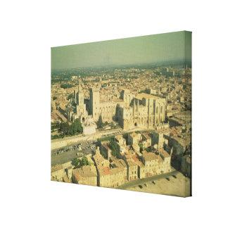 Vista aérea del palacio impresiones en lona
