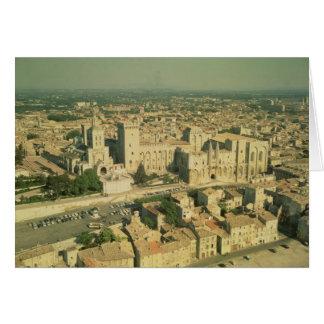 Vista aérea del palacio tarjetas