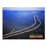 Vista aérea del puente de la bahía de Chesapeake,  Postal