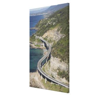 Vista aérea del puente del acantilado del mar cerc impresiones en lona