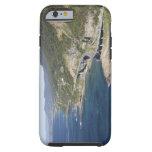 Vista aérea del puente del acantilado del mar funda para iPhone 6 tough