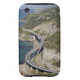 Vista aérea del puente del acantilado del mar iPhone 3 tough coberturas