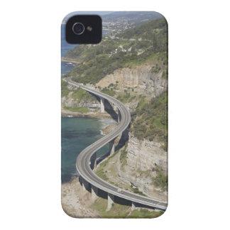 Vista aérea del puente del acantilado del mar iPhone 4 fundas