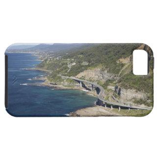Vista aérea del puente del acantilado del mar iPhone 5 fundas