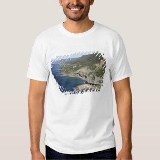 Vista aérea del puente del acantilado del mar remera