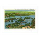 Vista aérea del puente internacional postales