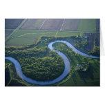 Vista aérea del Red River del norte Felicitacion