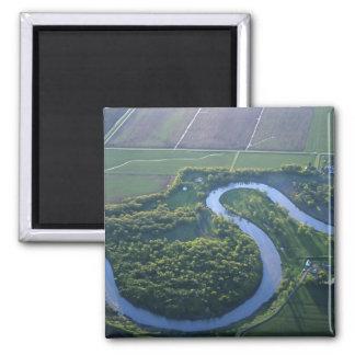 Vista aérea del Red River del norte Imán Cuadrado