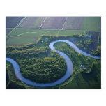 Vista aérea del Red River del norte Tarjeta Postal