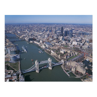 Vista aérea del río Támesis Tarjeta Postal