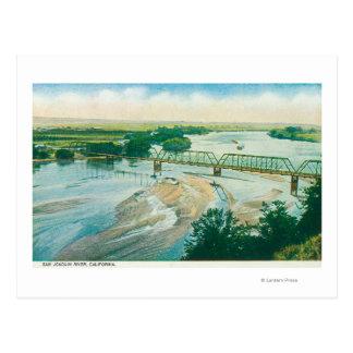 Vista aérea del río y del puente postal