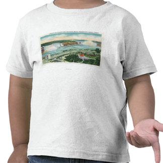 Vista aérea del teatro y de las caídas del jardín camisetas