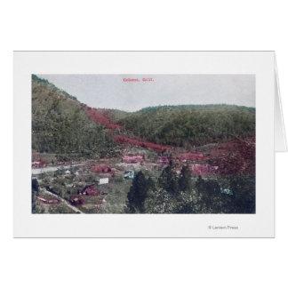 Vista aérea del TownColoma, CA Tarjeta De Felicitación
