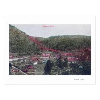 Vista aérea del TownColoma, CA Tarjeta Postal