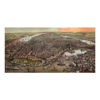 Vista aérea del vintage Nueva York Tarjetas Fotográficas