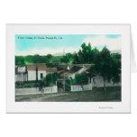 Vista aérea exterior de la cabaña francesa tarjeta