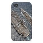 Vista aérea portaaviones USS Ronald Reag iPhone 4 Cárcasas