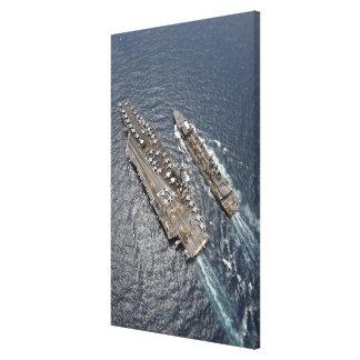 Vista aérea portaaviones USS Ronald Reag Lona Estirada Galerías