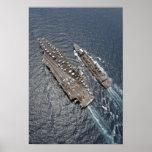 Vista aérea portaaviones USS Ronald Reag Posters