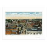 Vista aérea septentrional de la calle principal tarjeta postal