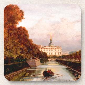 Vista al castillo de Michael en Petersburgo de Posavasos De Bebidas
