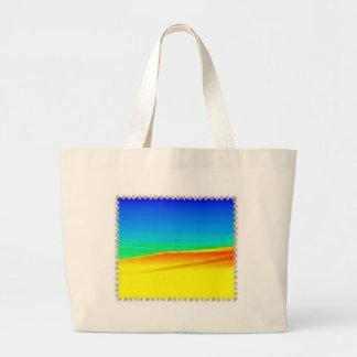 Vista al mar abstracta - bolso del diseño bolsas