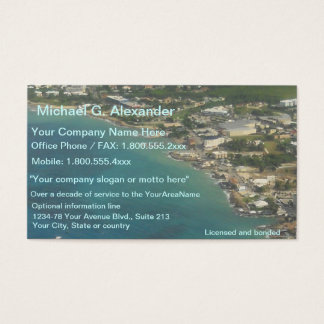 Vista al mar de las propiedades inmobiliarias de tarjetas de visita